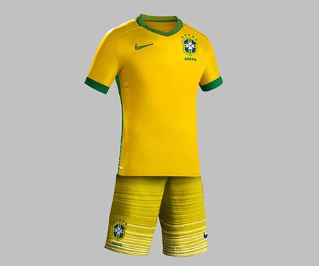 Uniforme do Brasil para 2016 poderá ter calção amarelo capa
