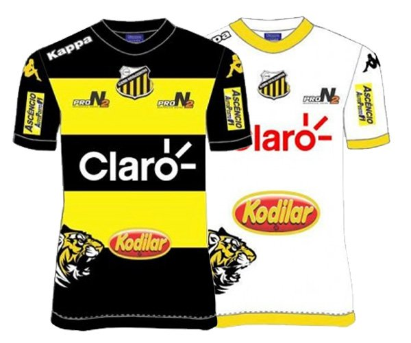 Camisas do Grêmio Novorizontino 2016 Kappa capa