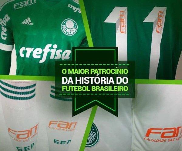 Crefisa, FAM e Palmeiras Maior patrocínio da história capa