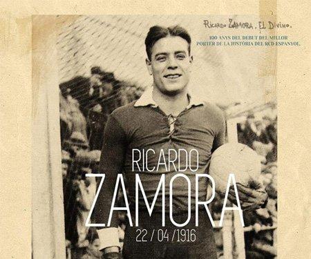 Goleiro Ricardo Zamora camisa especial Espanyol capa