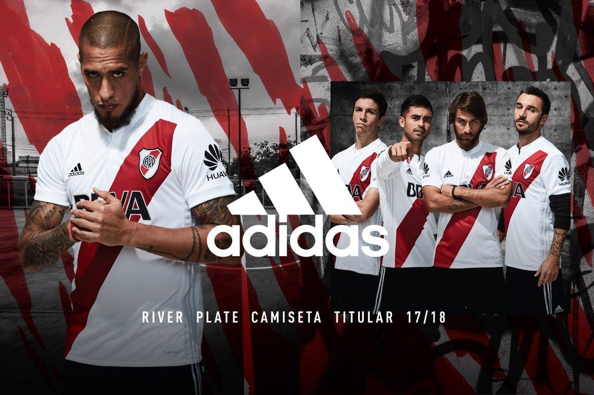 Camisas do River Plate 2017-2018 Adidas