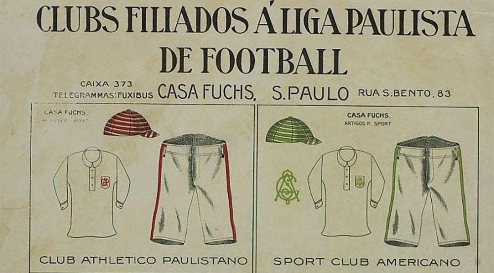 Uniformes dos clubes do Campeonato Paulista em 1912