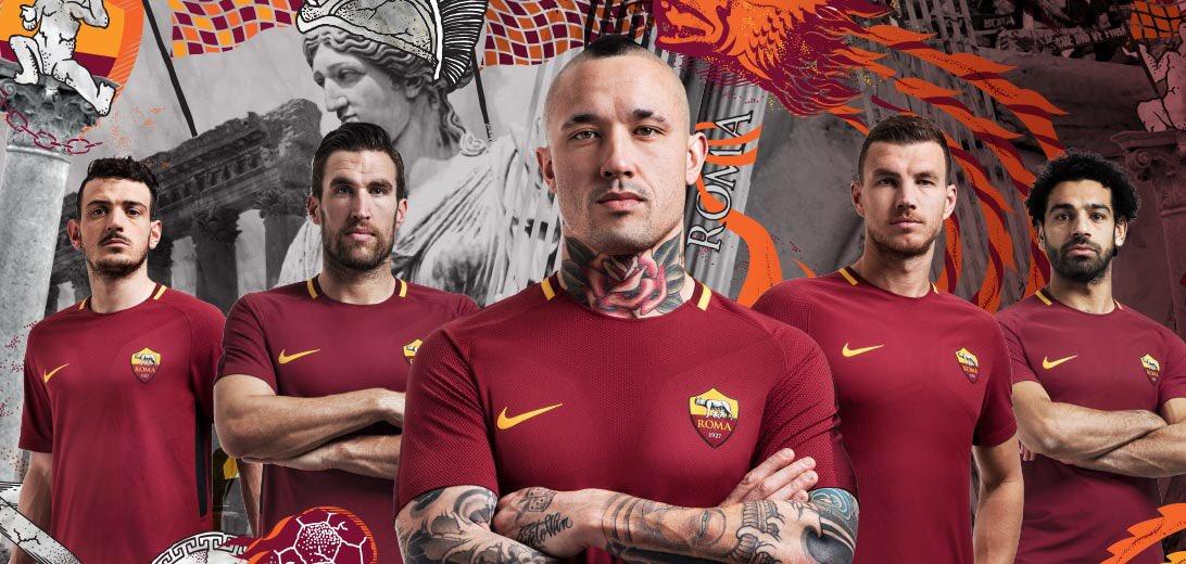 Camisas da AS Roma 2017-2018 Nike abre