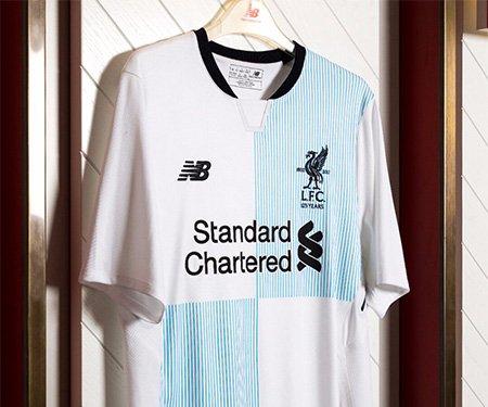 New Balance Lanca Versao Especial Azul Da Camisa Reserva Do Liverpool Mantos Do Futebol