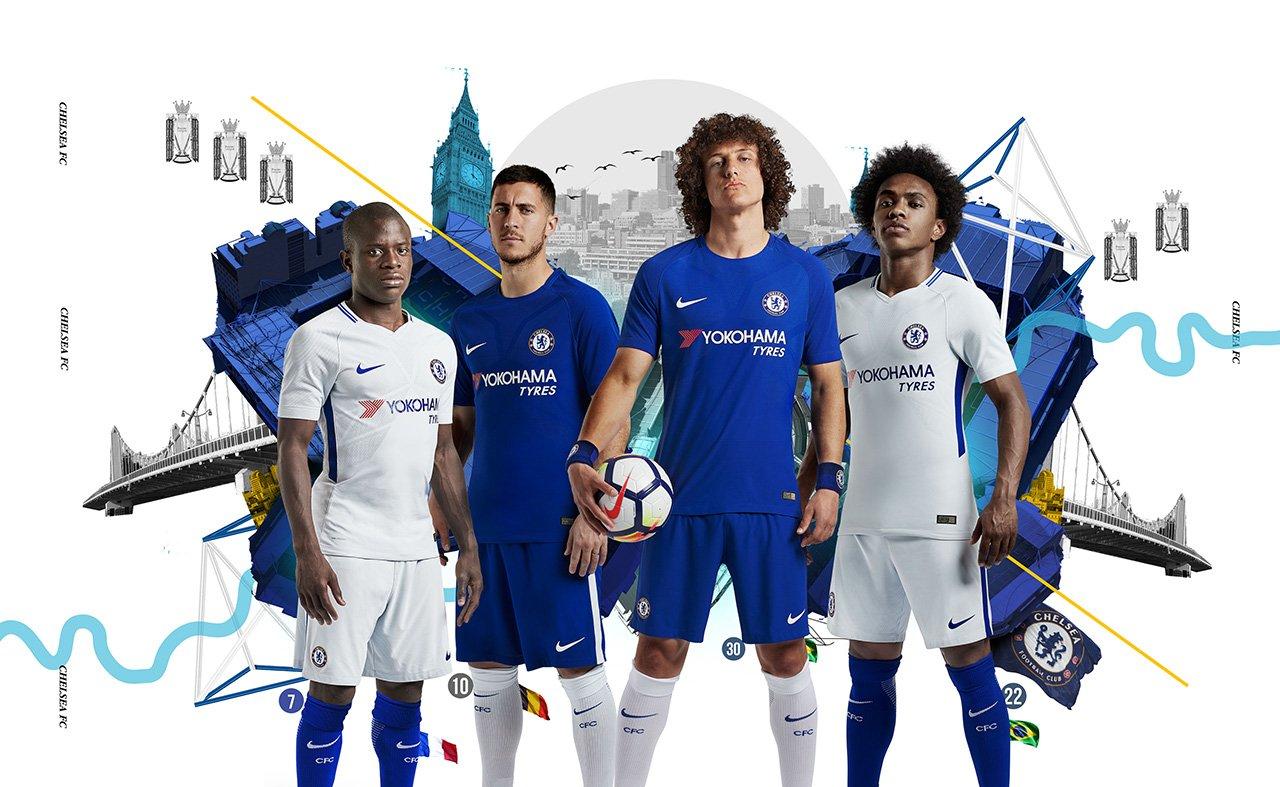 Camisas do Chelsea 2017-2018 Nike