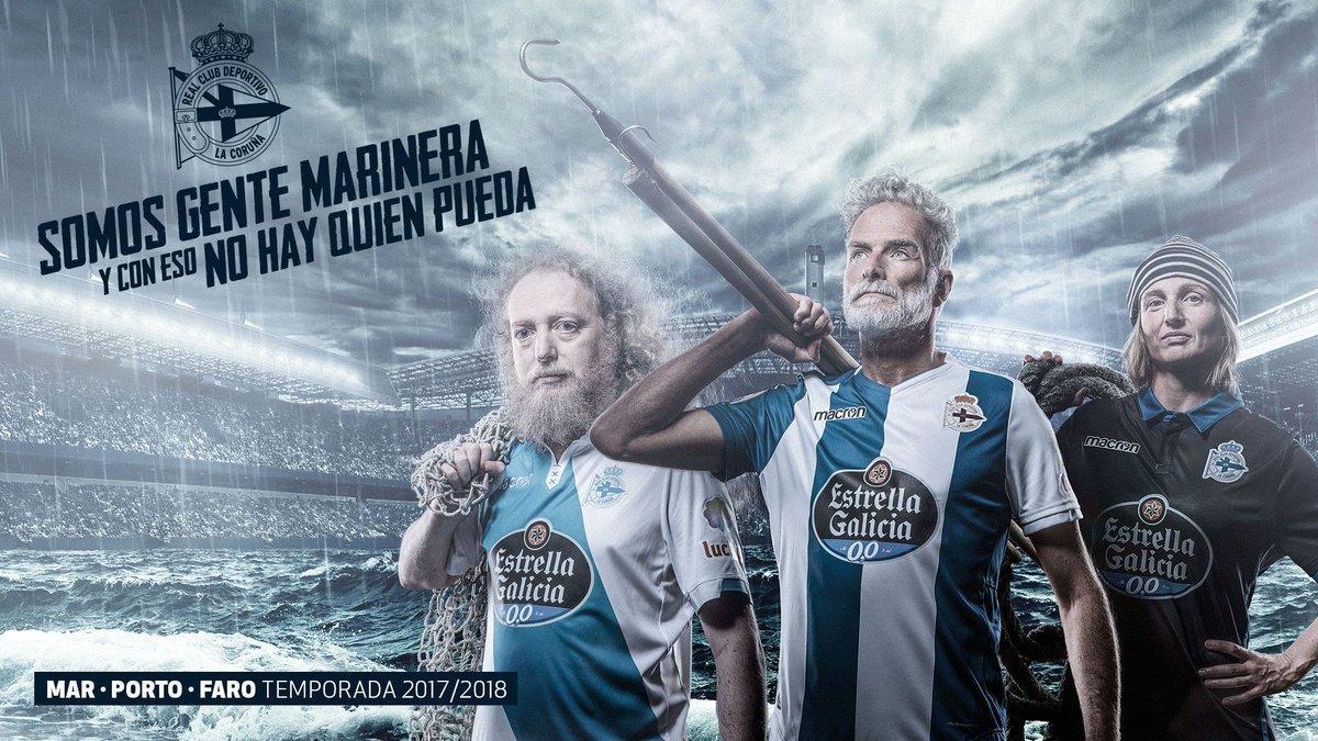 Camisas do Deportivo La Coruña 2017-2018 Macron
