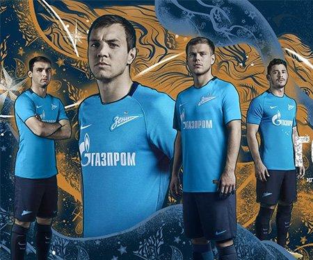 Camisas do Zenit 2017-2018 Nike