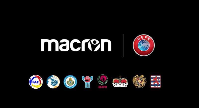 Seleções menores da UEFA vestirão uniformes da Macron