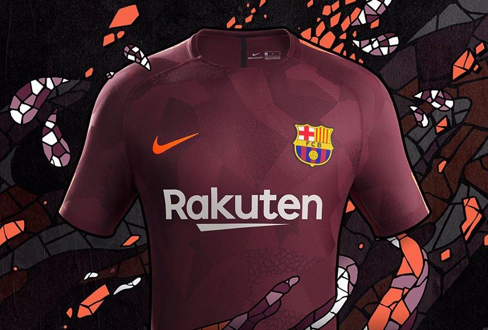 Terceira camisa do Barcelona 2017-2018 Nike abre