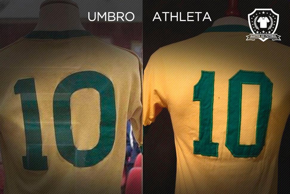 Camisa do Brasil em 1970 Umbro x Athleta