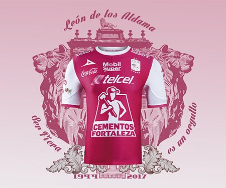 Camisa Outubro Rosa do Club León 2017 Pirma