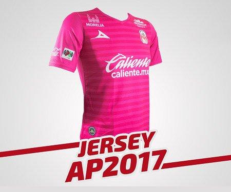 Camisa outubro rosa do Monarcas Morelia 2017 Pirma