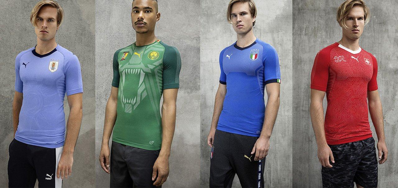 Camisas da seleções PUMA 2018 começam a ser vendidas no Brasil