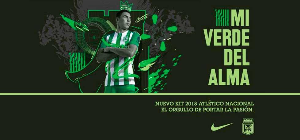 Camisas do Atlético Nacional 2018 Nike