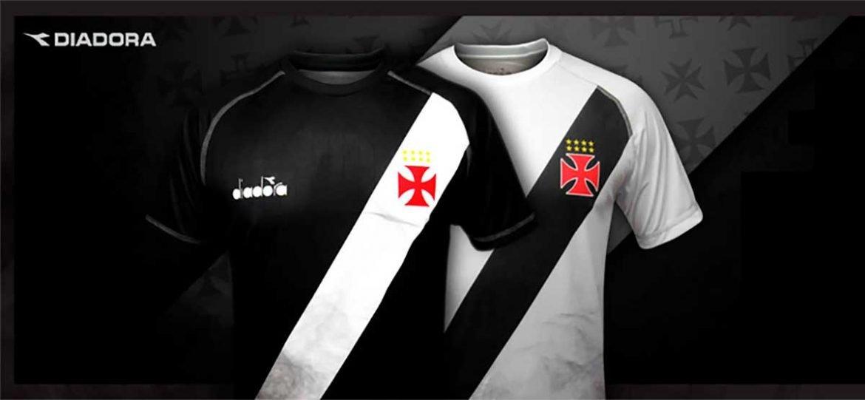 Camisas provisórias do Vasco da Gama 2018 Diadora abre