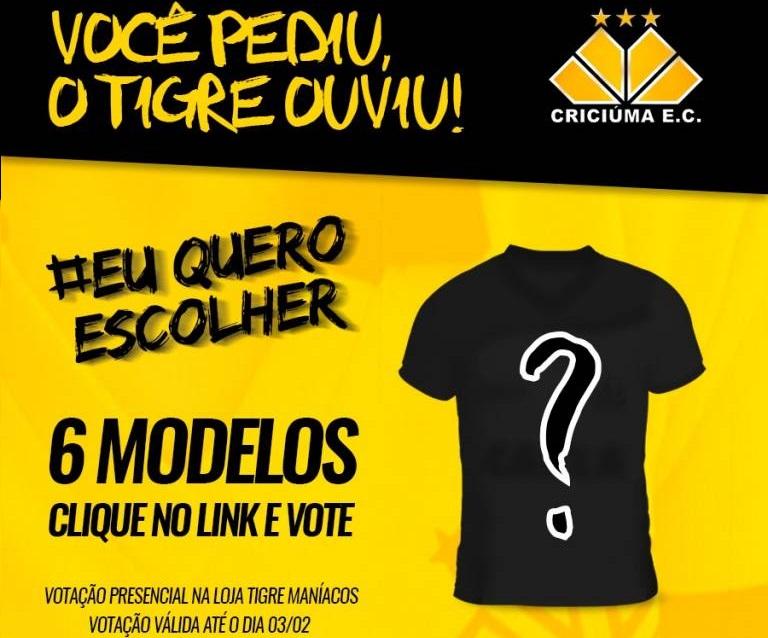 Criciúma inicia votação para nova camisa 2018