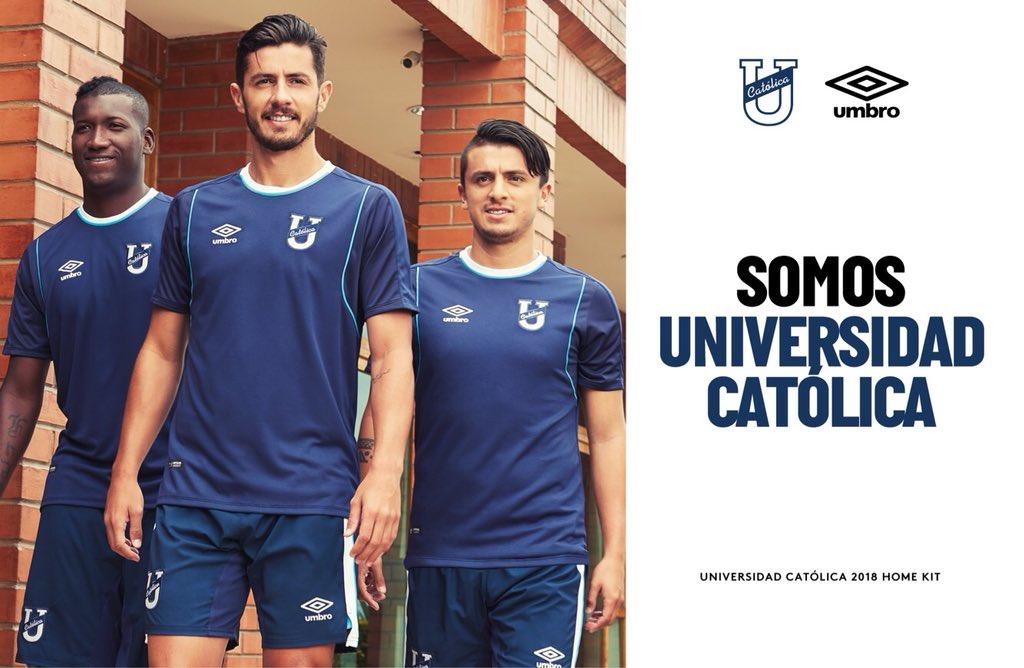 Camisas do Universidad Católica do Equador 2018 Umbro