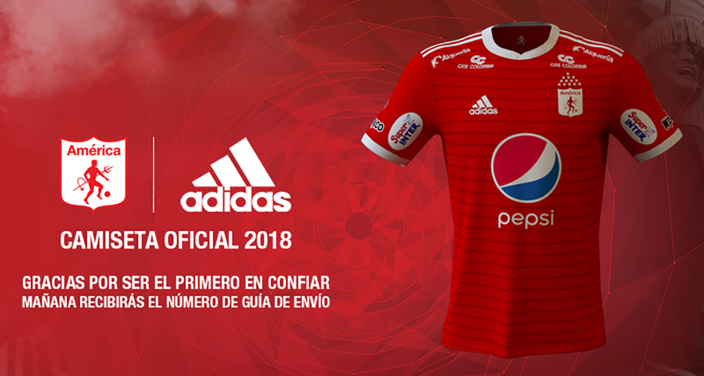 Camisas do América de Cali 2018 Adidas
