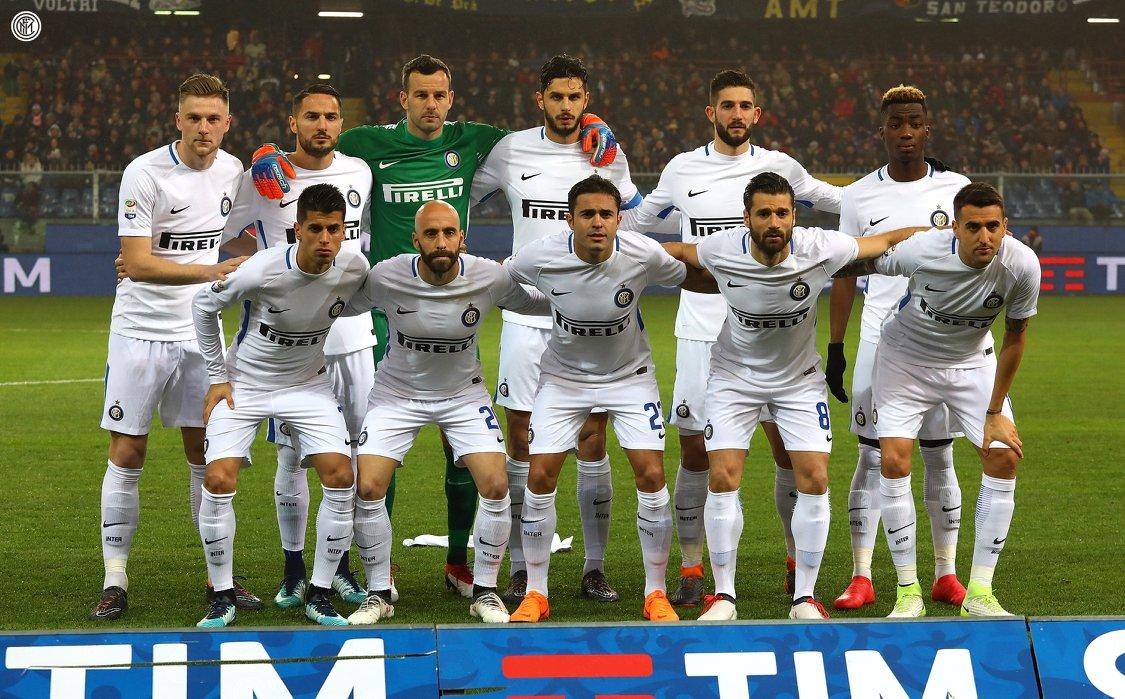 Inter de Milão usa camisa reserva modificada contra a Genoa