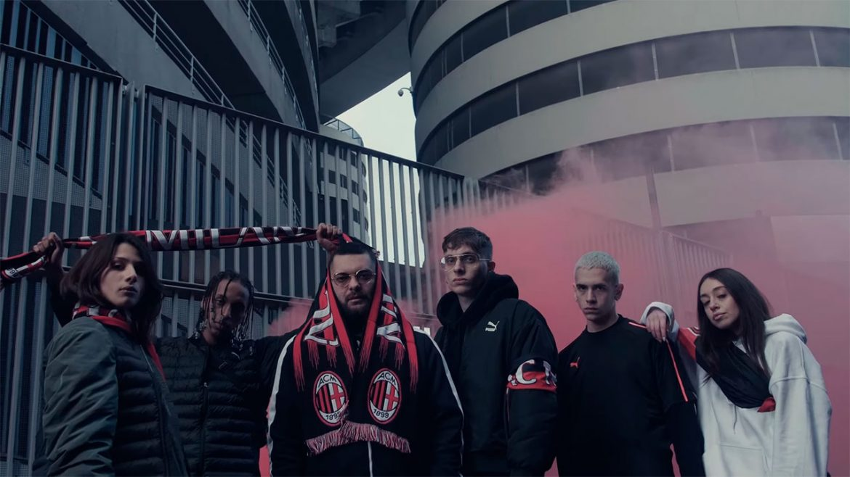 Rapper italiano lança teaser de parceria entre Milan e PUMA