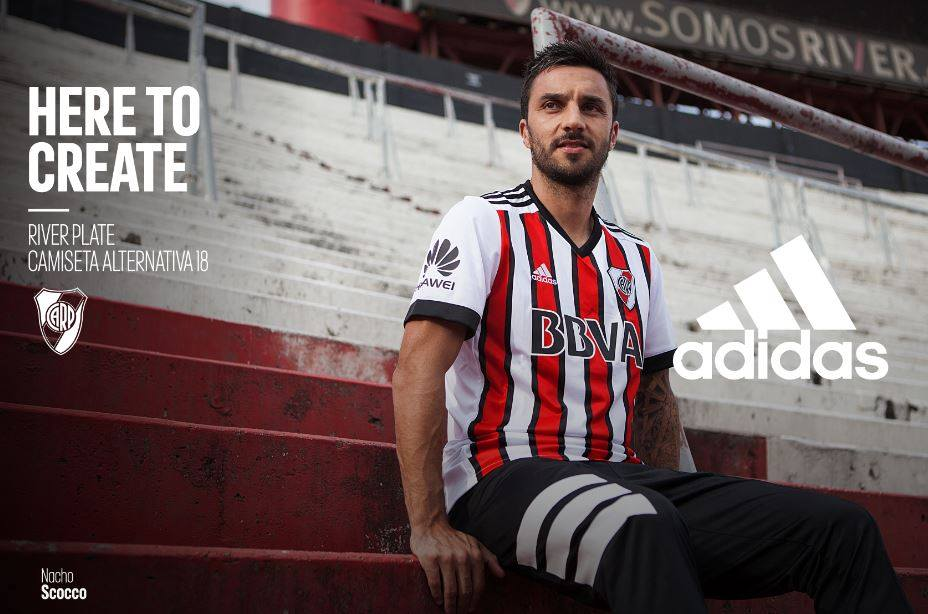 Terceira camisa do River PLate 2018 Adidas abre