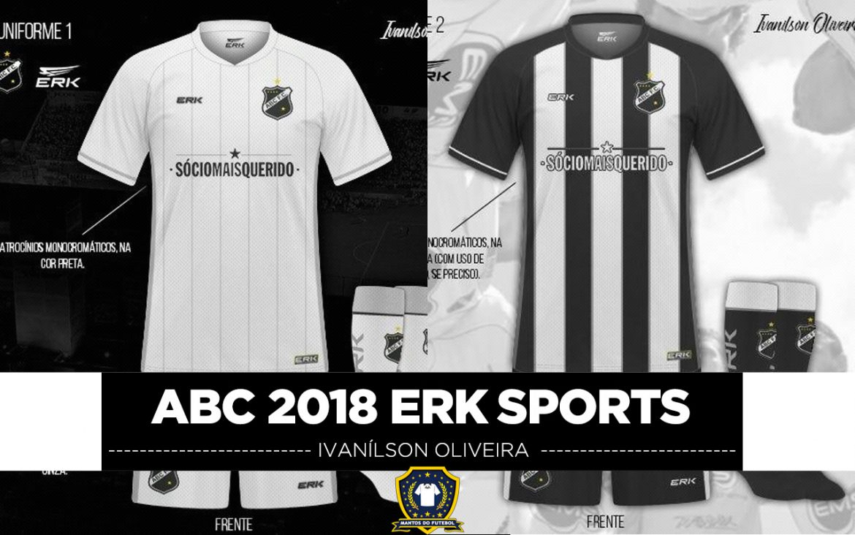 Leitor MDF: Camisas do ABC 2018 ERK Sport (Ivanilson Oliveira)