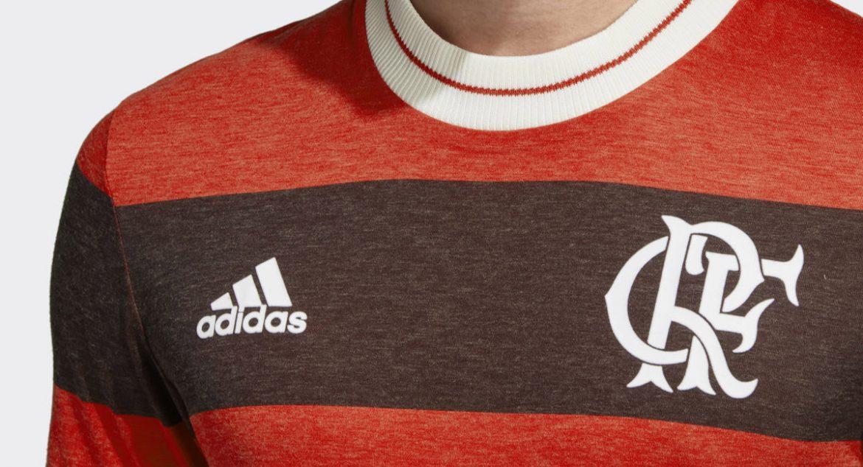 Camisa Icon do Flamengo 2018 Adidas abre