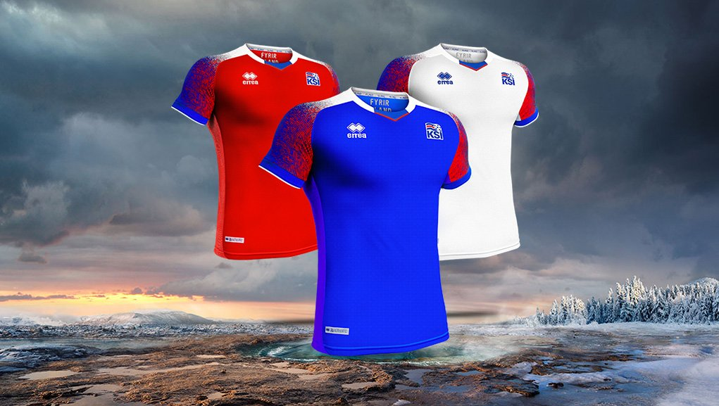 Camisas da Islândia 2018-2019 Erreà Copa do Mundo abre