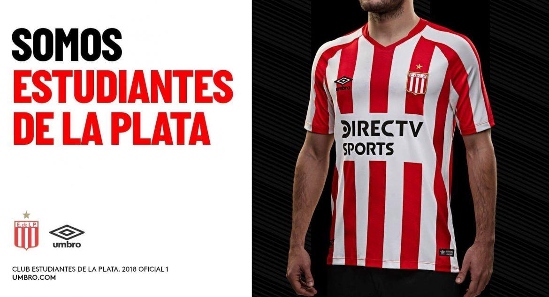 Camisas do Estudiantes 2018-2019 Umbro Titular abre