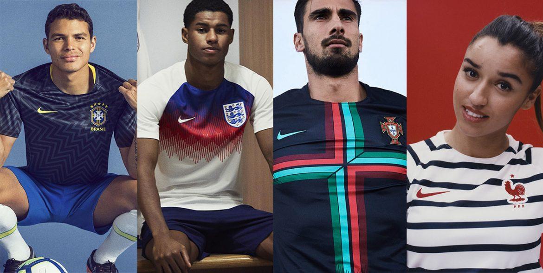 Camisas pré-jogo Nike Copa 2018