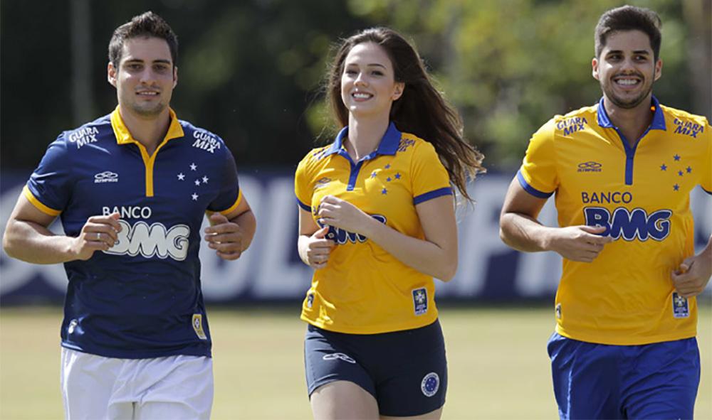 Cruzeiro camisa alusão Copa do Mundo