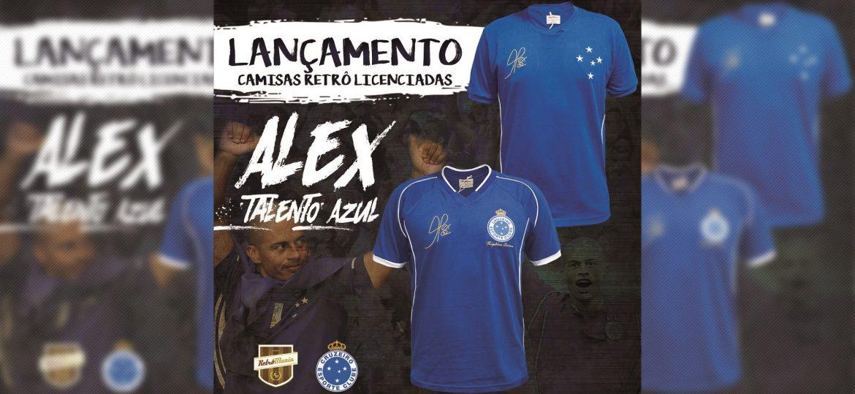 Cruzeiro lança camisas retrô em homenagem a Alex