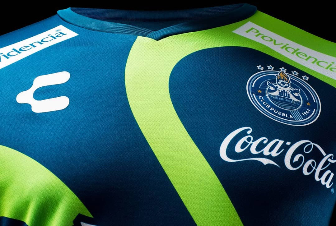 Terceira camisa do Puebla 2018 Charly Futbol