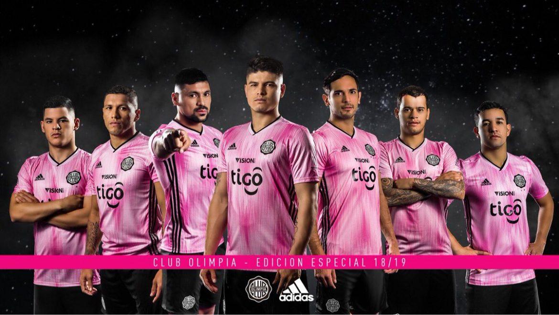 Camisa Outubro Rosa do Olimpia 2018 Adidas