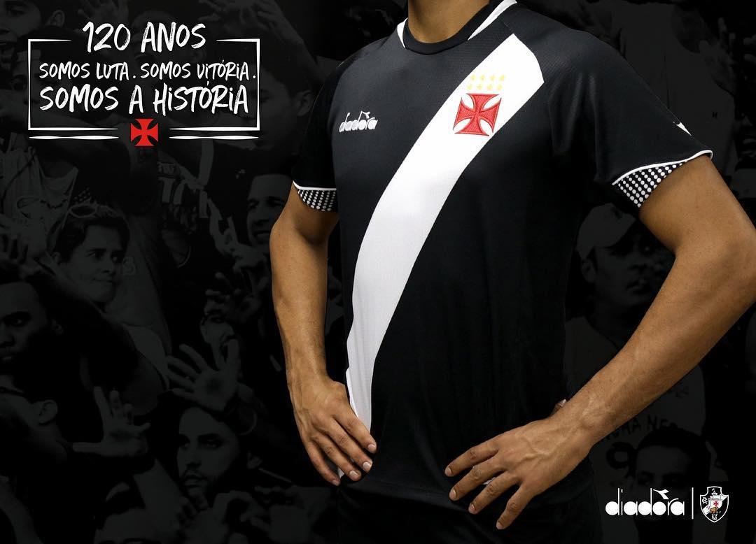 Camisas do Vasco da Gama 2018-2019 Diadora Titular