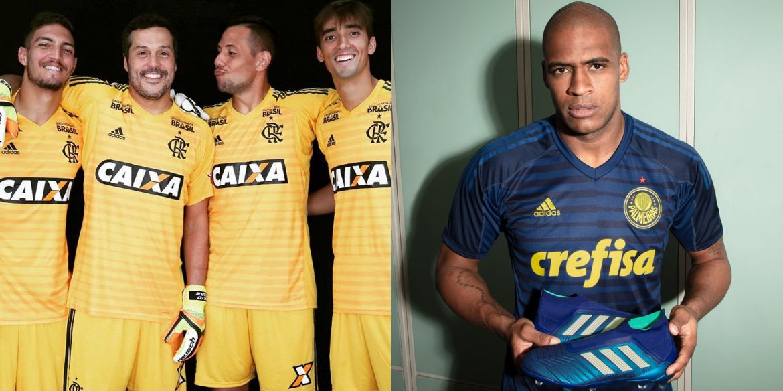 Flamengo e Palmeiras ganham novas camisas de goleiro da Adidas