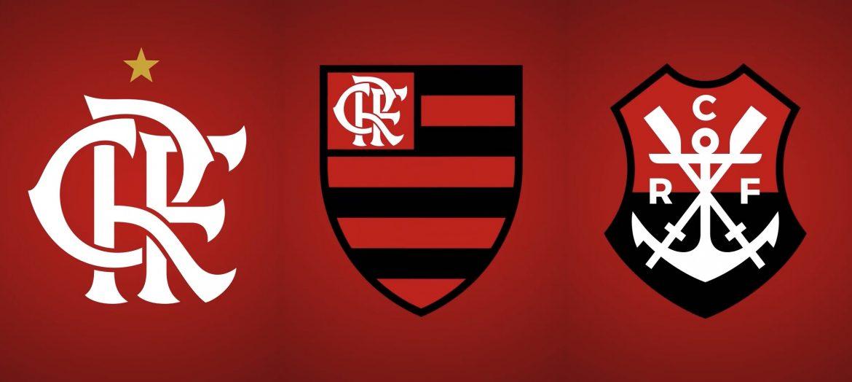 Novos escudos Flamengo