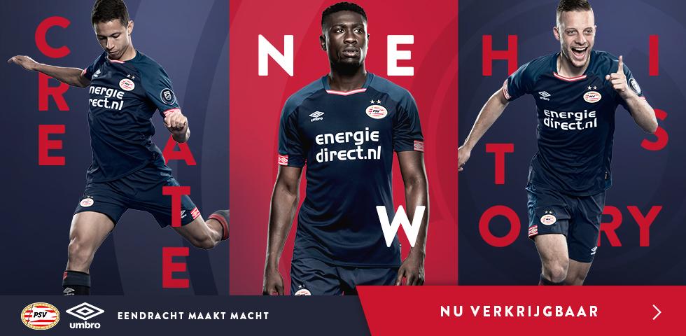 Terceira camisa do PSV 2018-2019 Umbro abre