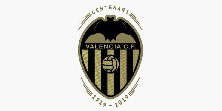 escudo do centenário do Valencia CF