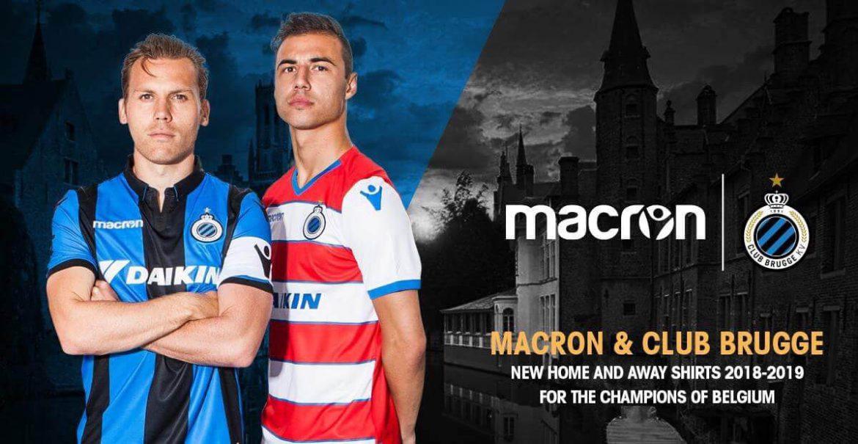 Camisas do Club Brugge 2018-2019 Macron Titular