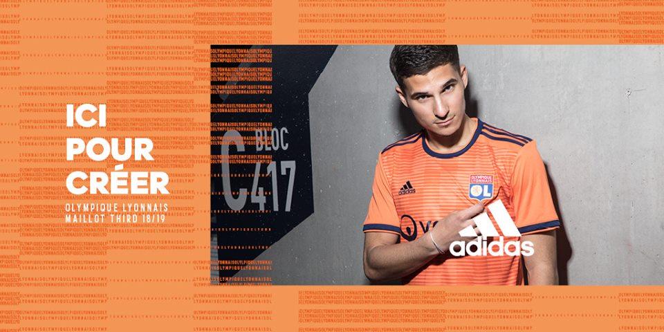 Camisas do Lyon 2018-2019 Adidas
