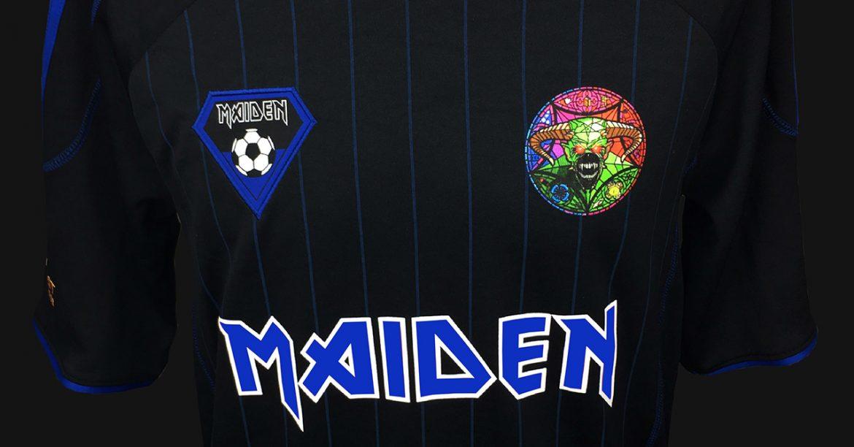Iron Maiden lança camisa de futebol para sua nova turnê
