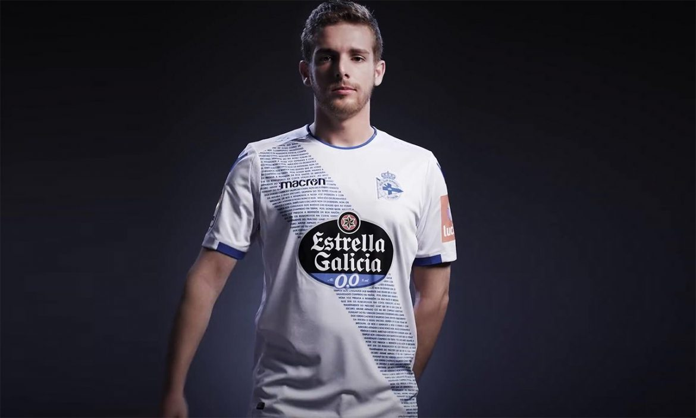 Terceira camisa do Deportivo La Coruña 2018-2019 Macron