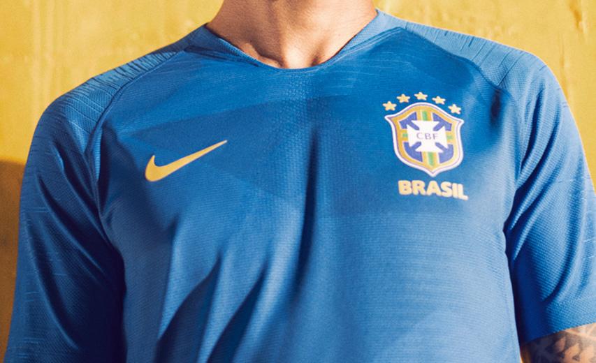Camisa azul do Brasil 2018