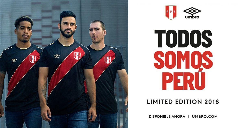 Camisa preta do Peru 2018 Umbro
