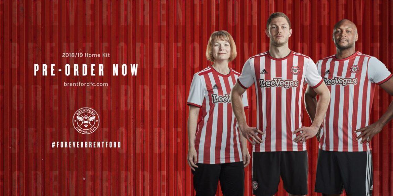 Camisas do Brentford FC 2018-2019 Adidas