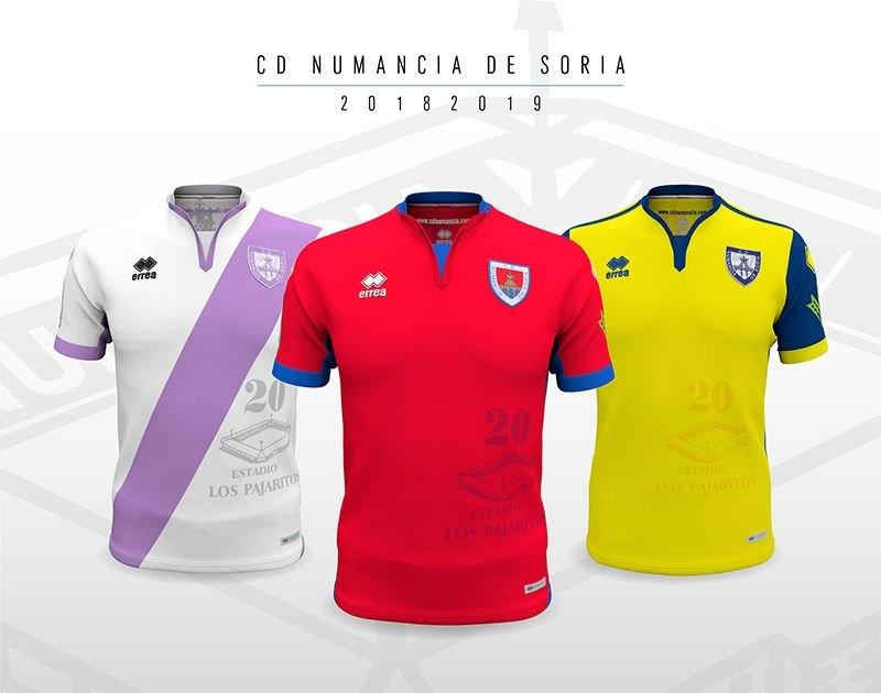 Camisas do CD Numancia 2018-2019 Erreà