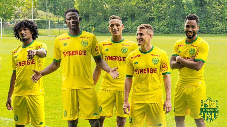 Camisas do FC Nantes 2018-2019 New Balance Titular abre