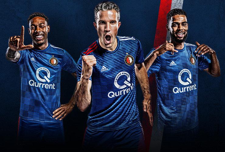 Camisas do Feyenoord 2018-2019 Adidas Reserva abre