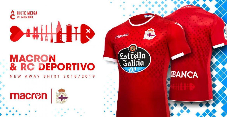 Camisas do La Coruña 2018-2019 Macron Reserva